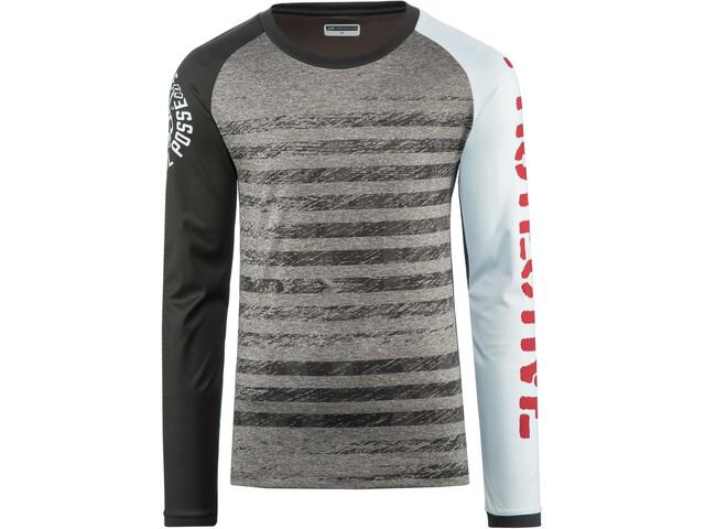 Protective Live & Loud LS Shirt Herre grey melange